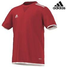 adidas Core11 Tee Youth T-Shirt Trainingsshirt Kids rot Baumwollmischgewebe