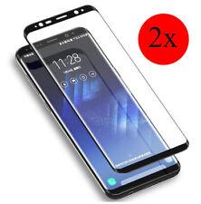 2x Panzerglas 3D Samsung Galaxy S8, S8+ Plus Schutzglas Schwarz, Gold,Klar