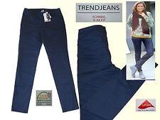 Vaqueros señora stretchjeans Jeans Hose pantalones señora vaqueros tendencia pu revestimiento 36-44