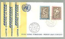 ITALIA BUSTA PRIMO GIORNO  1963 CONTRO  Fame  ANNULLO SPECIALE RAVENNA  FDC RARA