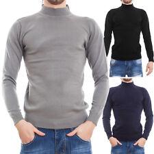Suéter de hombre pulóver cuello alto burlesco ajustado slim fit nuevo QYB-239