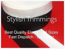 "Flat Elastic Black/White1.5mm,2mm,3mm,4mm,6mm,7mm,12mm.19mm,1"",25mm,2"",3"",75mm"