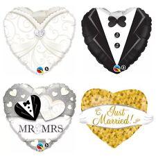XXL Folienballon Mr. & Mrs. Hochzeit Deko Ballon Braut Bräutigam  Anzug  Helium