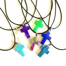 Quartz Crucifix Crystal Chakra Healing Gemstone Pendant Natural Reiki Necklace