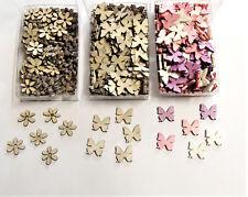 144 Holzschmetterlinge Blüten Schmetterling Streudeko Tischdeko Holzstreuteile