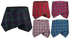 Ladies/Womens Tartan Asymmetric Hem Skirt/Shorts/Skorts