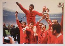 Ron Yeats & Ian St John Signed Liverpool 1965 FA Cup Photo Un-framed 16x12 COA