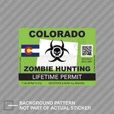 United States Zombie Hunter Hunting Permit Decal Outbreak USA Vinyl Sticker EVM