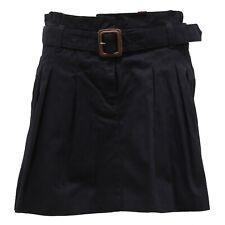 3393V gonna bimba BURBERRY blue cotton skirt girl kid