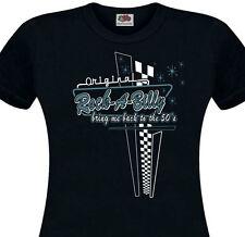 T-shirt femme ROCKABILLY - 50's Fifties retro Rock'n'Roll Pin-Up USA Diner