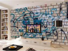 3D Lettre Graffiti.Photo Papier Peint en Autocollant Murale Plafond Chambre Art
