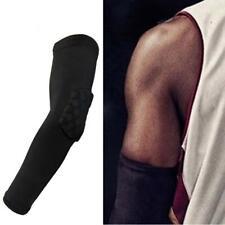 1x Basketball Elbow Pads Support Crashproof Football Arm Sleeve Support Black AL