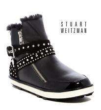 NEW Stuart WeitzmanAriana Sleek Black Faux Fur Lined Boots(Sizes 3, 4, 5)