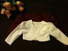 FREEPOST Wedding/Communion//Christening Girls/Baby Bolero Lined LS Jacket 6M-10Y