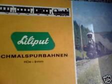 Catalogo treni LIliput H0e 9mm anno 1970 Tedesco