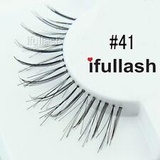 #41  6 or 12 pairs of ifullash 100% human hair Eyelashes- BLACK