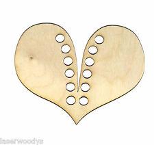 Heart U Lace Unfinished Wood Shape Cut Out Lh7910 Crafts Lindahl Woodcrafts