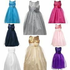 Superbe princesse filles demoiselle d'honneur mariage occasion spéciale robe + livraison gratuite