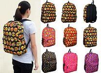 New Girl's Boy's Emoji Backpack Rucksack School Bag Satchel Hiking Shoulder Bag