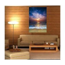 Quadro tela decocrazione rettangolare verticale tramonto de sole spiaggia