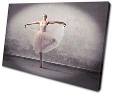 Performing Ballerina Dancer  SINGLE CANVAS WALL ART Picture Print VA