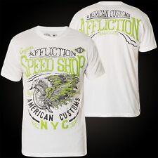 Affliction T-Shirt Wind Rider Weiß