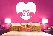 Flamingo Love Heart Wall Stickers Vinyl Art Decals
