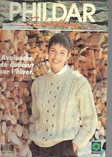 PHILDAR  Créations  avalanche de douceur sur l'hiver n°255 1994 tricots