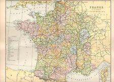 1880 print ~ carte de la france dans les ministères