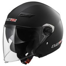 LS2 OF569 Track Noir Mat Ouvert Double visière urban scooter casque moto