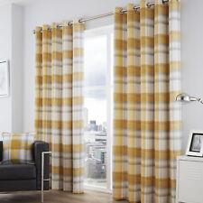 Idaho Feather Charcoal 66x72/168x183cm Eyelet Curtains