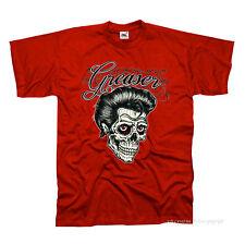 Camiseta T-Shirt Rockabilly Falda`n Roll 50s Tatuaje Del Cráneo Psychobilly