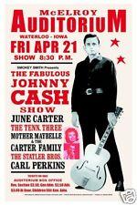 Man in Black: Johnny Cash at  Waterloo, Iowa Concert Poster 1967