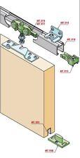 Kit Sistema scorrevole con binario (150 o 200 cm) per porte scorrevoli max 70 kg