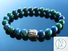 Buddha Chrysocolla Natural Gemstone Bracelet 6-9'' Elasticated Healing Stone