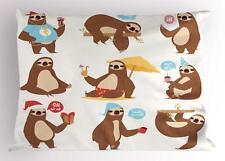 Sloth Pillow Sham Decorative Pillowcase 3 Sizes Bedroom Decor