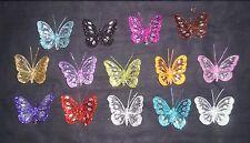 8cm Glitter Jewel Nylon Mesh Butterfly - Butterflies - Choose from 13 colours