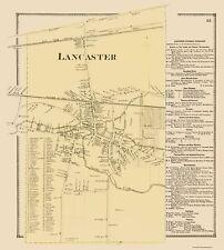 Old City Map - Lancaster New York Landowner - Stone 1869 - 23 x 25.55