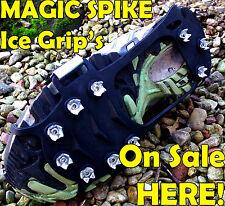 SNOW BOOT drogata Crampon antislittamento GHIACCIO cunei MAGIC Arrampicata Spike XLARGE UK 12 +