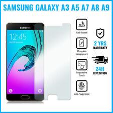 Screen Protector Protecteur Tempered Glass Samsung Galaxy A3 A5 A7 A8 A9 2016