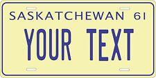 Saskatchewan 1961 License Plate Personalized Custom Car Bike Motorcycle Moped