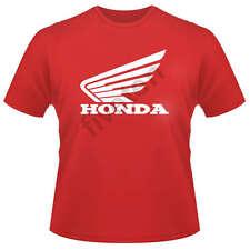 Custom Honda Motocross MX Wings Logo T-Shirt cr crf xr  motorcycle