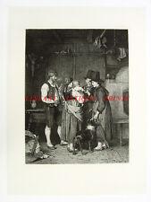 SISTERS VISIT NEW BABY, 1880s Franz DEFREGGER Art Print