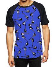Patrón de guitarra Fondo Para hombres Camiseta De Béisbol Todo-banda de música indie