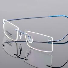 Flexible Rimless memory titanium Alloy Eyeglasses Unisex Glasses Frame Eyewear