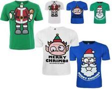 NUEVO CON ETIQUETA Hombre Xplicit Navidad Camiseta Graciosa rojo verde blanco