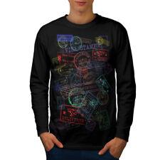 Post Stamp Travel Fashion Men Long Manche T-shirt New | wellcoda