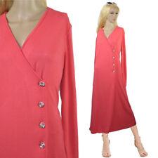 Stretch Dichter Jersey Frühling Kleid Wickelkleid Maxikleid Mantel NEU Gr.44 L