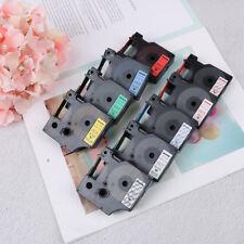 Compatible con DYMO 12 mm D1 negro en colores Label Tape 1/2 '' LabelManager PDQ