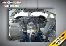 Poster BOEING 747 COCKPIT plane avion